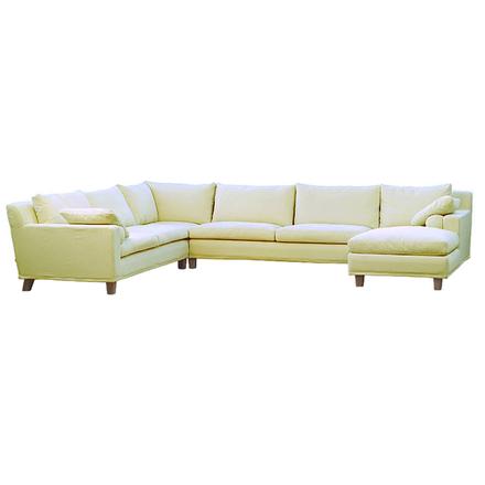 Morris hörnsoffa med divan 377x302