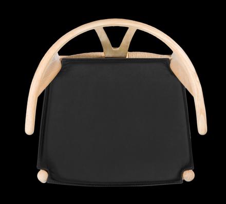 Y-stolen CH24 trä            - Läderdyna på köpet!