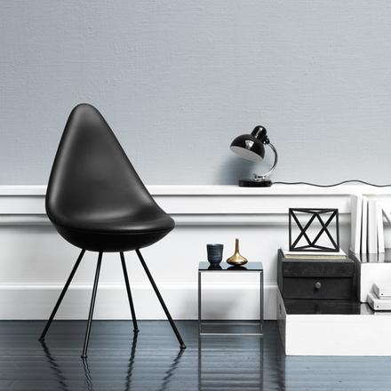 Drop stol svart Basic läder Kampanj