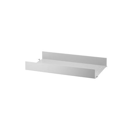 String hyllplan metall hög kant 58x30 cm