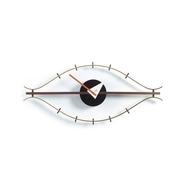 Eye Clock väggklocka valnöt mässing