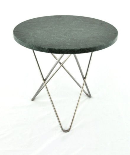 Tall Mini O table marmor