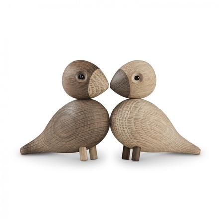 Lovebirds träfigur