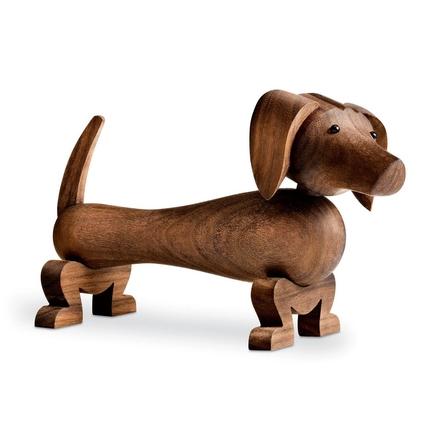Hund träfigur