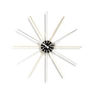 Star Clock väggklocka mässing/krom