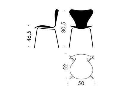Sjuan 3107 stol framsidesklädd Kampanj