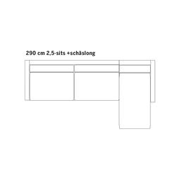 Alex High Edition 2,5-sits med divan