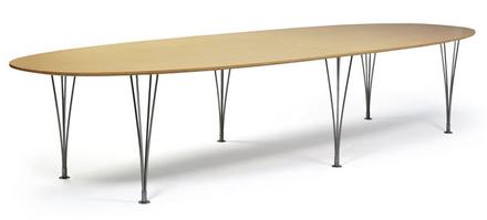 Superellips matbord trä-utförande