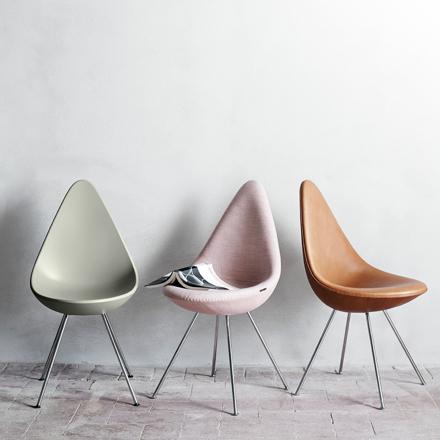 Drop stol läder