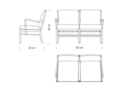 OW149-2 Colonial Soffa