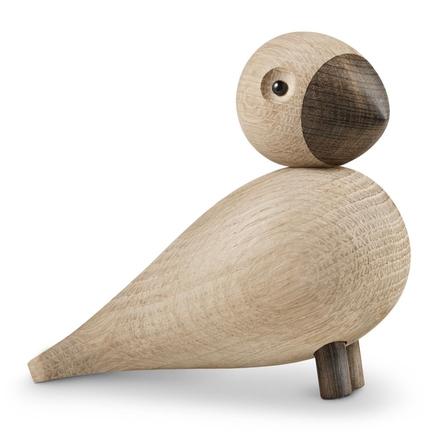 Sångfågel Alfred träfigur